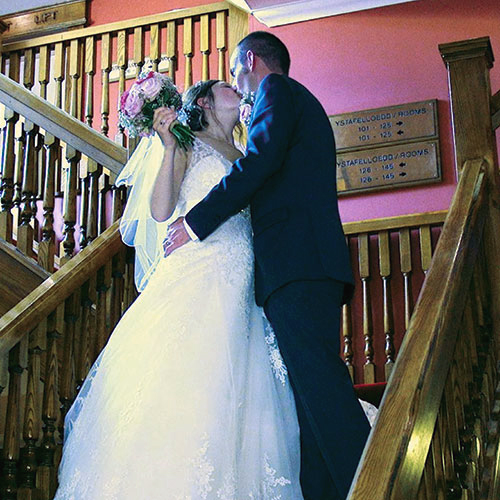 Stephanie and Arfon Wedding Video Caernarfon Celtic Royal Hotel 1